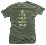 Keep Calm and Smoke Weed T-skjorter