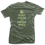 Keep Calm and Smoke Weed Shirts