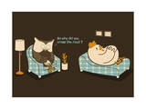 Why Did Chicken Cross the Road Giclee Print by Budi Kwan