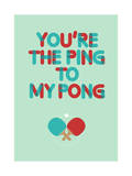Love Is Like Ping Pong Giclee Print by Budi Kwan
