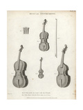 Violin, Sordine, Violoncello, Violino Piccola and Viola De Gamba Giclee Print by T. Webster