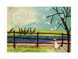 Doris and the Birdies Kunstdrucke von Sam Toft