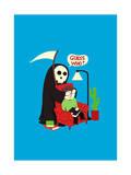 Grim Prank Giclee Print by Budi Kwan