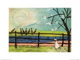 Doris and the Birdies Poster von Sam Toft
