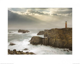 Stormy Lighthouse Poster by John Hartl