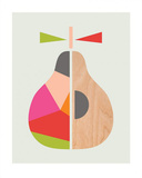 Geometric Pear Prints by  Little Design Haus