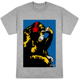 Steez - Monkey Thinker Red Headphones Shirts