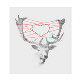 Lovely Deer Giclee Print by Budi Kwan