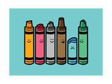 Overused Crayon Giclee Print by Budi Kwan