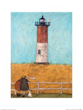 Feeling the Love at Nauset Light Print by Sam Toft