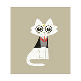 Wizard Cat Giclee Print by Budi Kwan