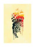 Painted Tiger Giclee Print by Budi Kwan