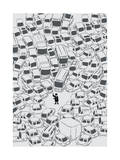 It's a Traffic Jam Mr Police Giclee Print by Budi Kwan
