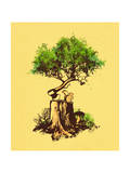 Re Forestation Giclee Print by Budi Kwan