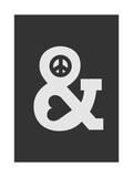 Peace and Love Dark Giclee Print by Budi Kwan