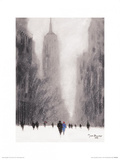 Heavy Snowfall, 5th Avenue - New York Prints by Jon Barker