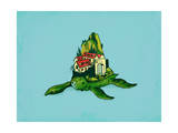 Turtle Fort Giclee Print by Budi Kwan