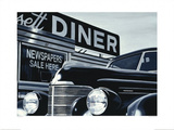 Massachusetts Diner Print by Alain Bertrand