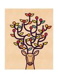 A Happy Deer Giclee Print by Budi Kwan