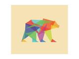 Fractal Geometric Bear Giclée-Druck von Budi Kwan