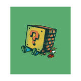 Mario and Loose Brick Giclee Print by Budi Kwan