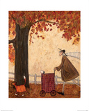Following the Pumpkin Poster von Sam Toft