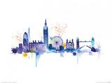 London Skyline Poster von Summer Thornton
