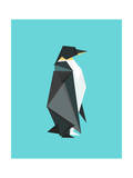 Fractal Geometric Emperor Penguin Giclee Print by Budi Kwan