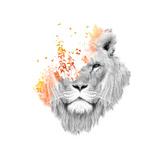 If I Roar Giclée-Druck von Budi Kwan