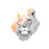 If I Roar Giclee Print by Budi Kwan