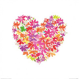Floral Heart Prints by Summer Thornton
