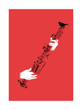 String Instrument Giclee Print by Budi Kwan