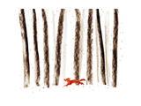 You Belong in the Wild So Run and Roam Giclee Print by Budi Kwan