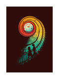 Journey of a Thousand Miles Giclee Print by Budi Kwan