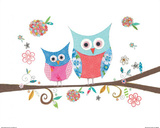 Hello Owls Prints by Kim Anderson