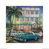 Avalon Hotel, Miami Poster by Melissa Sturgeon