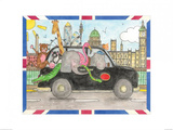 London Taxi Prints by Milly Green