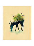 Watering a Life into Itself Giclee Print by Budi Kwan