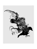 The Crow Giclee Print by Budi Kwan