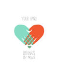 I Want to Hold Your Hand Giclee Print by Budi Kwan