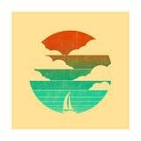 Go West (Sailing Boat) Giclée-Druck von Budi Kwan