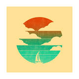 Go West (Sailing Boat) Giclee Print by Budi Kwan