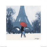 Snow Time For A Kiss Prints by Jon Barker