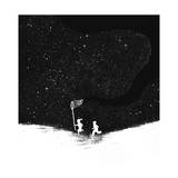 Star Catching Giclee Print by Budi Kwan