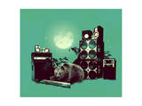 Jungle Music by Bear Giclee Print by Budi Kwan