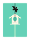 A Bird Stole My Song Giclee Print by Budi Kwan