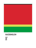 Pantone Fruit Watermelon Giclee Print by Budi Kwan