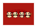 Robot Panda Giclee Print by Budi Kwan