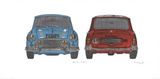 Blue Mini Red Mini Affischer av Barry Goodman