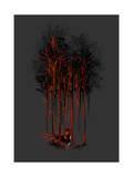 A Crimson Retaliation Giclee Print by Budi Kwan